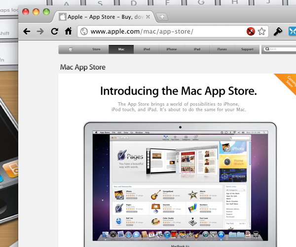 No Early Mac App Store Still On Target for January 2011 Launch