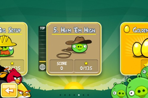 Angry Birds Ham Em High 500x333 Angry Birds update features 15 new levels, new themes and more!