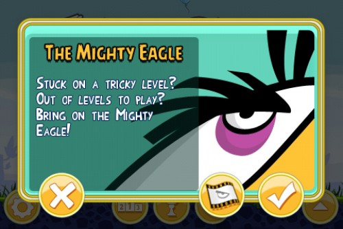 Angry Birds Mighty Eagle 500x333 Angry Birds update features 15 new levels, new themes and more!
