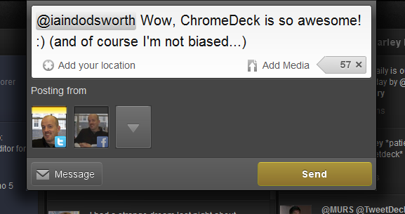 Compose window TweetDeck Releases ChromeDeck Your Shiny New Friend