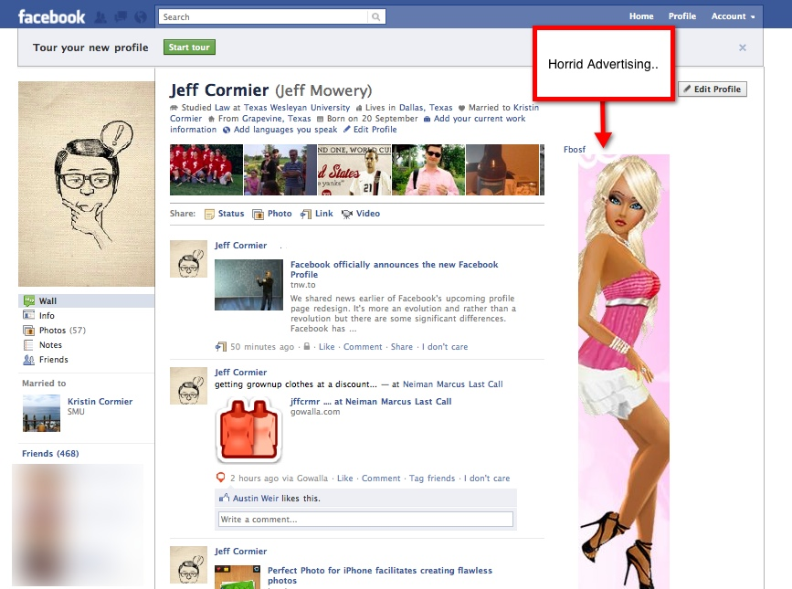 FacebookProfile1 Everything you need to know about the new Facebook profile. The plus, minuses and surprises.