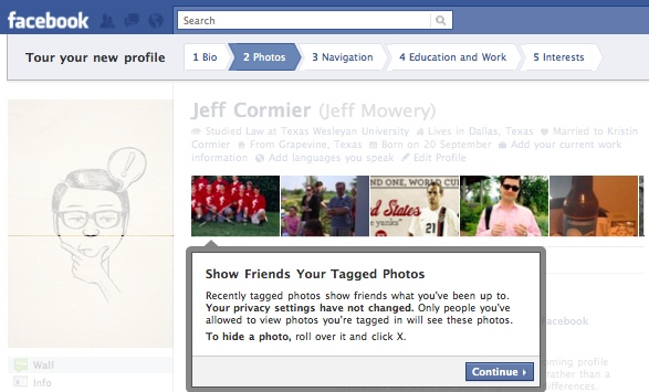 FacebookProfileTour2 Everything you need to know about the new Facebook profile. The plus, minuses and surprises.