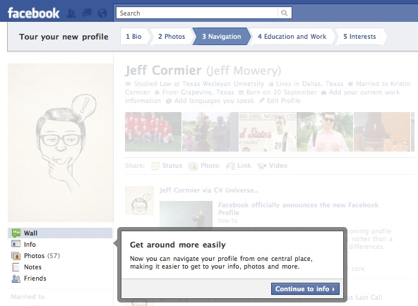 FacebookProfileTour3 Everything you need to know about the new Facebook profile. The plus, minuses and surprises.