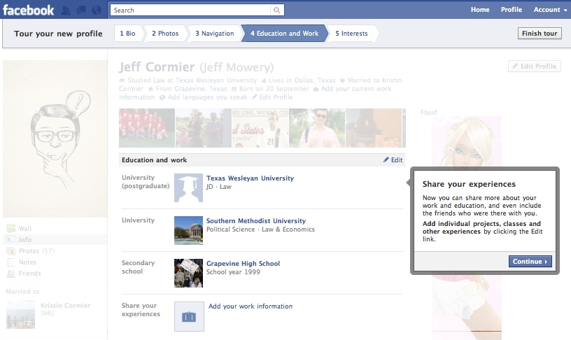 FacebookProfileTour4 Everything you need to know about the new Facebook profile. The plus, minuses and surprises.