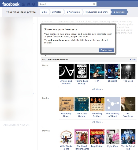 FacebookProfileTour5 Everything you need to know about the new Facebook profile. The plus, minuses and surprises.
