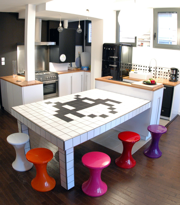 awesome space invaders kitchen table Awesome Kitchen Tables