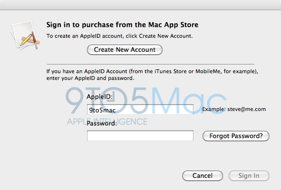MacAppStoreLogin9to5mac Screenshots of Mac App Store reveal parental controls and more
