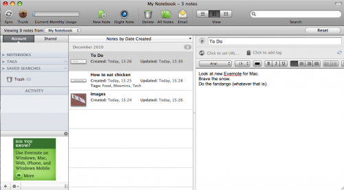 Picture 1 500x277 Evernote for Mac gets new sharing and organization features