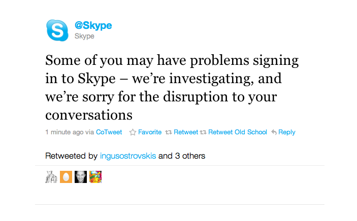 Picture 776 Skype Goes Down. [Updates]