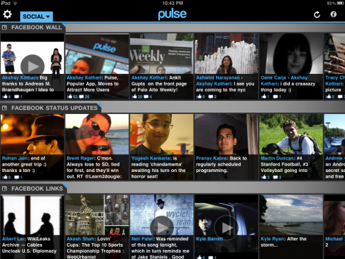 Pulse Facebook Home View 500x375 Flipboard killer? Pulse News Reader for iPad adds Facebook integration.