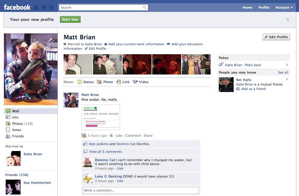 facebook com home profile