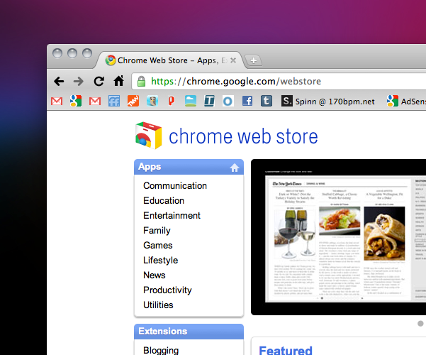 The Chrome Web Store Is Live!