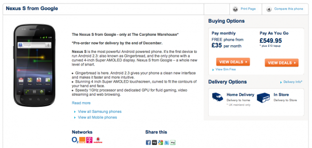 Screen shot 2010 12 10 at 14.29.03 620x294 Nexus S now available for pre order in the UK