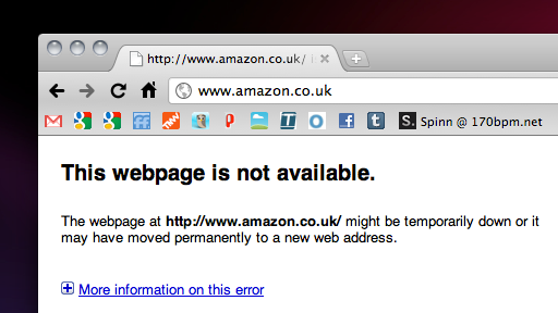 Screen shot 2010 12 12 at 3.08.01 PM All of Amazons European domains are down. [Updated: Sites are live again]