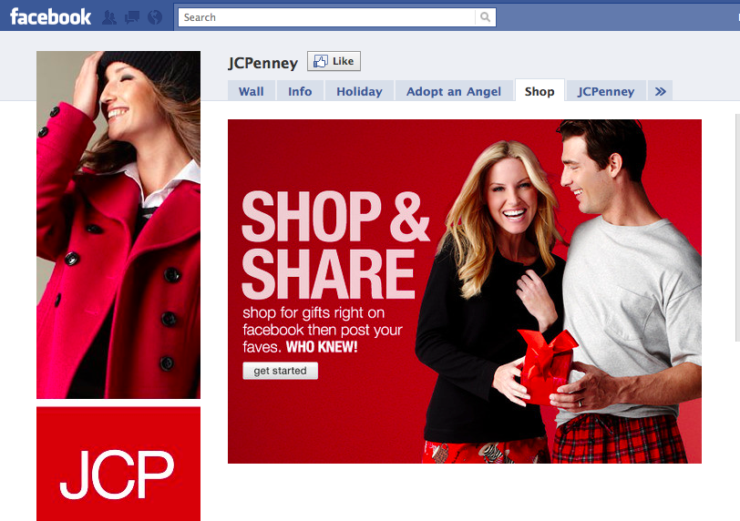 Screen shot 2010 12 14 at 11.20.26 AM JCPenney launches its first Facebook e commerce store