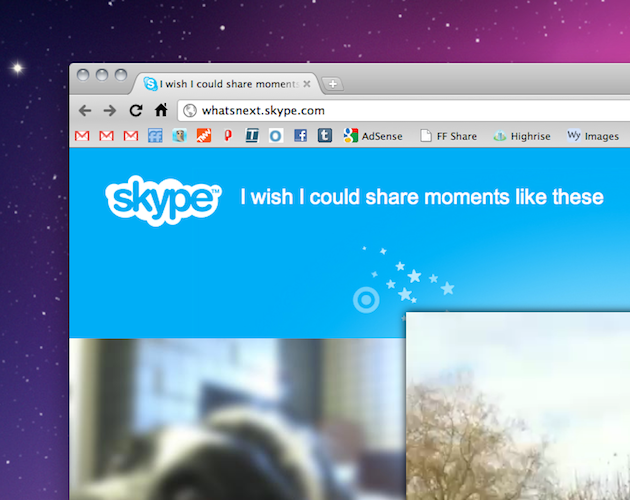 Skype teases its mobile video function with a new landing page