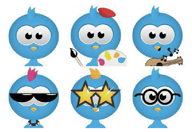 Twitter avatar winner variations Twitter avatar contest shows cute, customized birds are the way forward