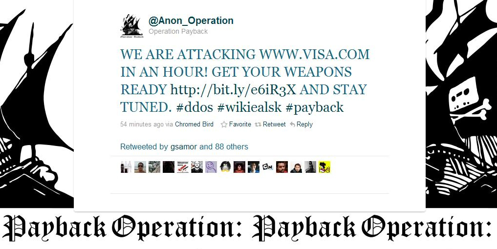 anon1 Anonymous Operation:Payback Now Targeting Visa.com