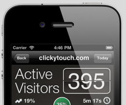 ct 260x217 Analytics app ClickyTouch comes to iPad