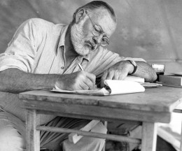 ernest hemingway 260x216 Love poetry jams? Try Figment: an online community created for writers by writers