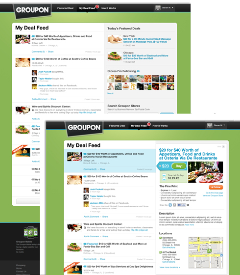 feed Groupon giving merchants more options & consumers a deal feed