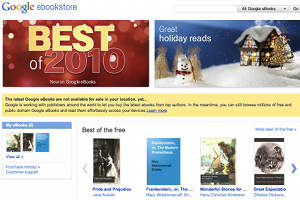 google ebookstore Google launches its eBook store in the US. 3m titles available today.