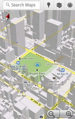 image1 Google Maps for Android goes 3D, finally works offline
