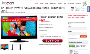 kogan uk Would you buy a TV before its been made? Kogan thinks you will