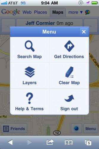 ladiduemenu 333x500 Ladidude trumps Google, making Google Latitude useful on your iPhone