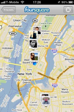 map 260x390 Foursquare adds photos and comments to its new iPhone app