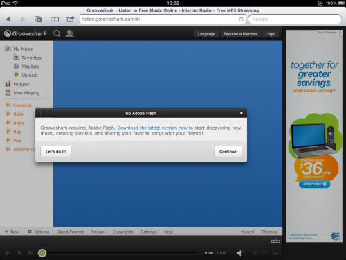 photo 5 500x375 Grooveshark launches new HTML 5 interface, still doesnt work on iPad