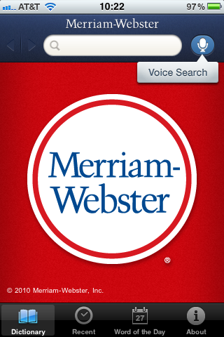 photo Merriam Webster unveils its free iPhone dictionary app with Voice Search
