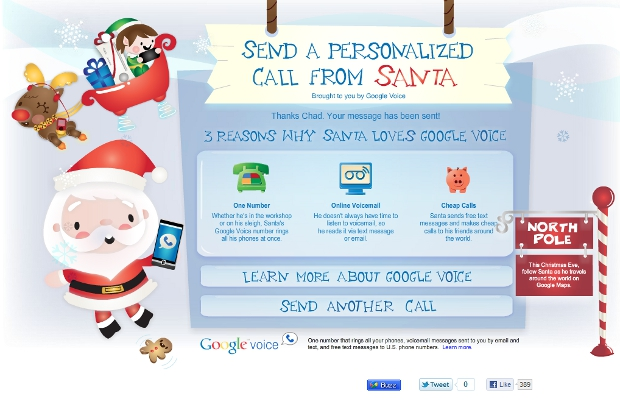santavoice Santa Gets A Google Voice Number