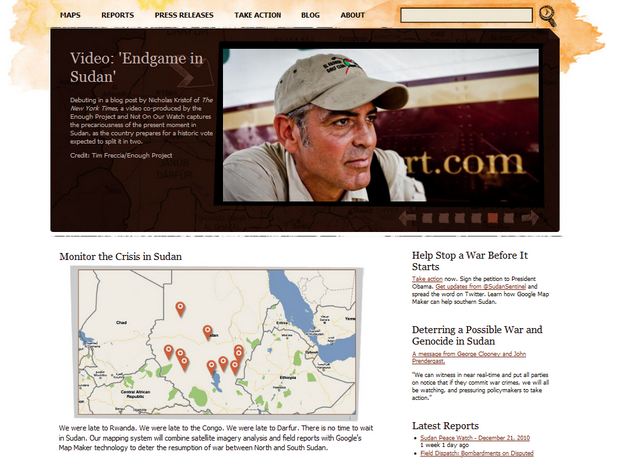 screenshot2 George Clooney & Google Team Up to Stop Genocide in Sudan