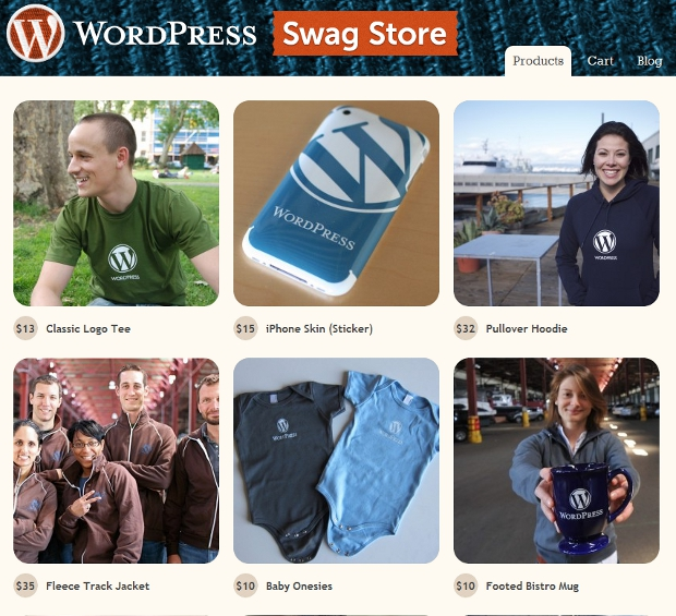 swag1 Like Wordpress? You can now buy some official WP swag online