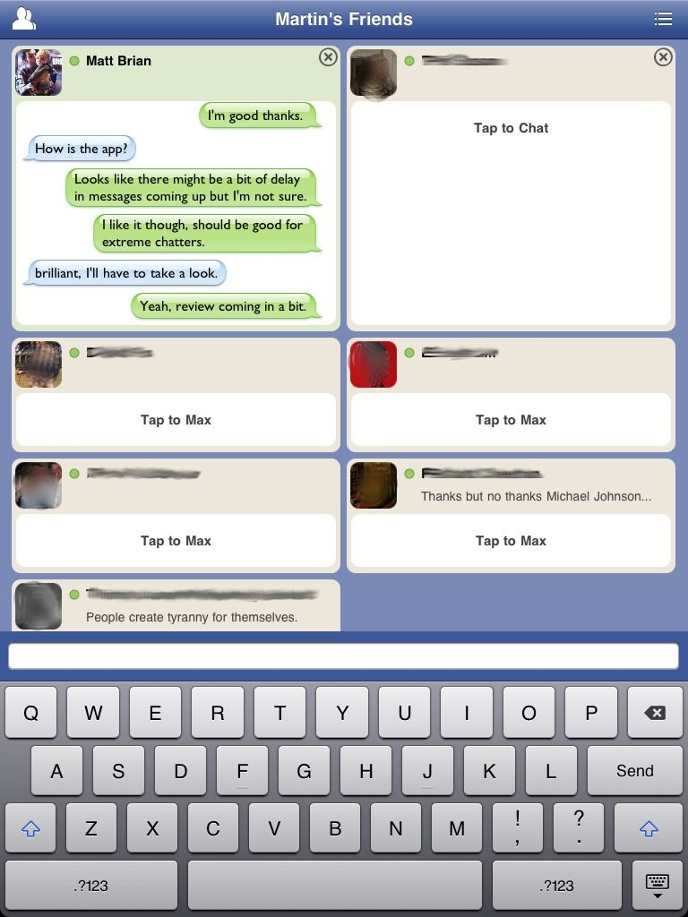 Facebook Chat addict? Tap To Chat could be your dream app