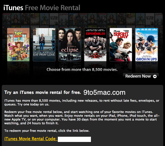 ths Why is Apple apparently sending out free iTunes movie rental codes?