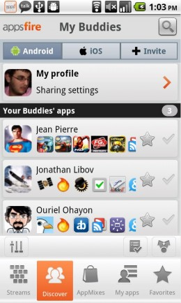 Device Screen Capture 2 260x434 Get Android app recommendations from your Facebook friends with new Appsfire update