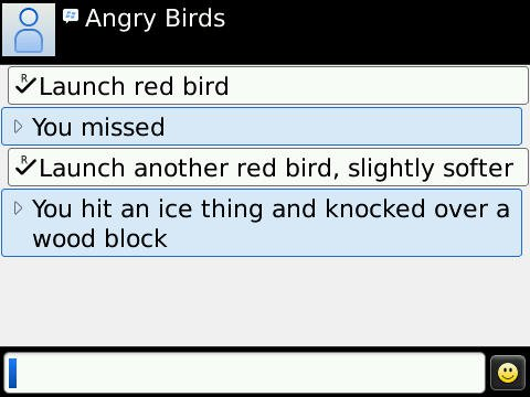 NPdnw Angry Birds for Blackberry Screenshot Leaked