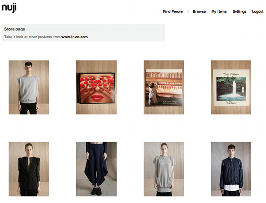 Nuji store Social shopping service Nuji launches photo tagging and virtual stores