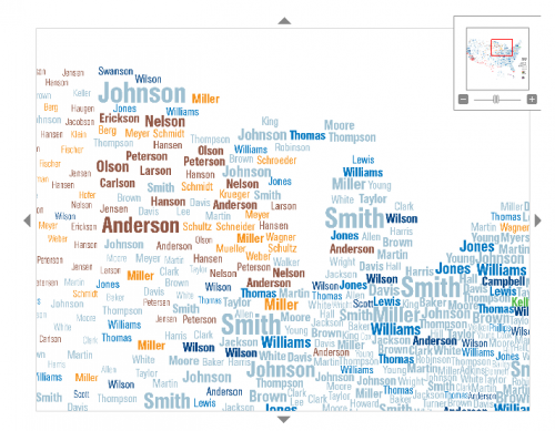 Interactive Map Of Surnames In The US