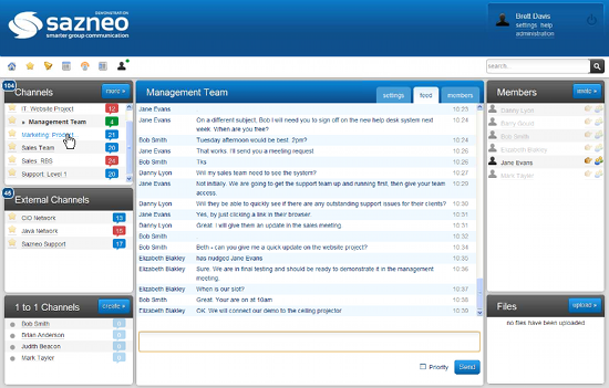 Sazneo Sazneo: Really smart online conversations for teams