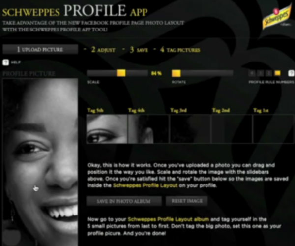 Don't Miss Schweppes' Stunning New Facebook Profile App