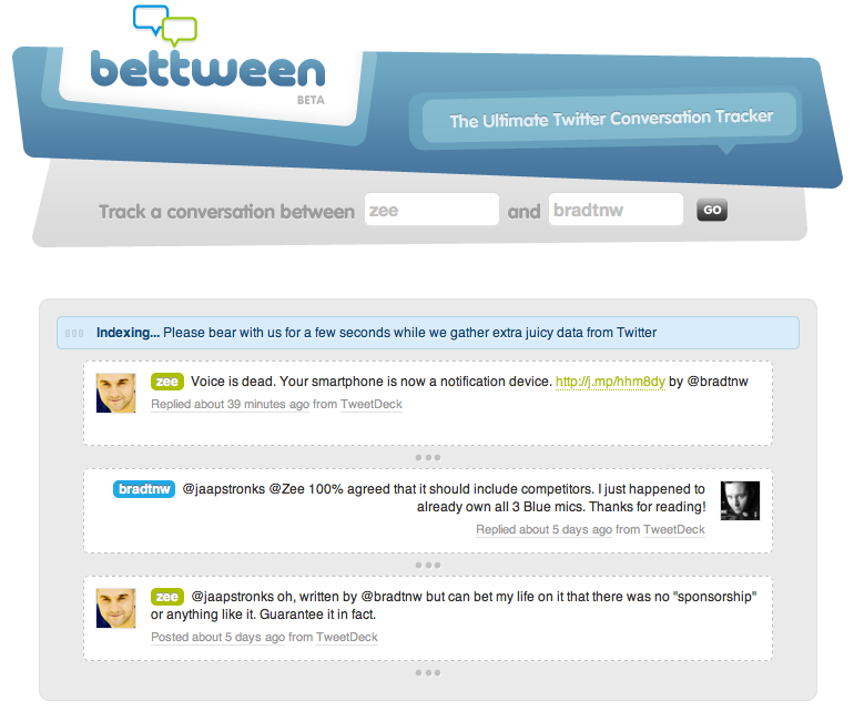 Screen shot 2011 01 04 at 12.44.32 AM How to easily view a Twitter conversation on a single page