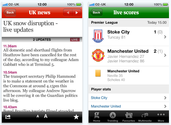 Screen shot 2011 01 19 at 12.42.17 The Guardian launches its new subscription iPhone app