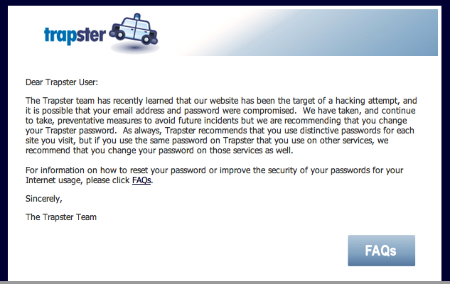 Screen shot 2011 01 20 at 12.31.16 PM Trapster App is hacked! 10 million users passwords at risk
