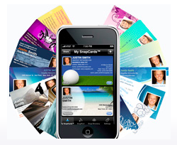 5 mobile apps that could kill business cards snapdat electronic business card reheart Gallery