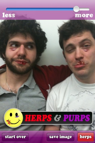 Screen shot 2011 01 26 at 2.43.36 PM Herps and Purps goes viral as the grossest iPhone app yet