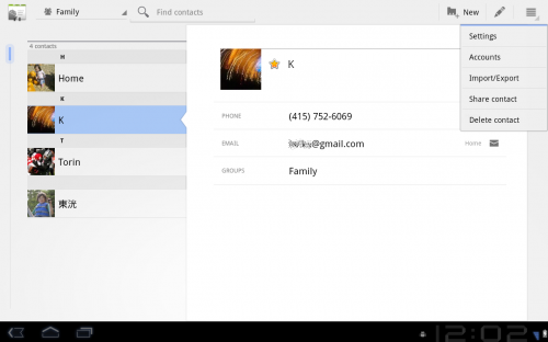 contacts full 2 500x312 Google Drops Android 3.0 SDK Preview, Teases Screenshots