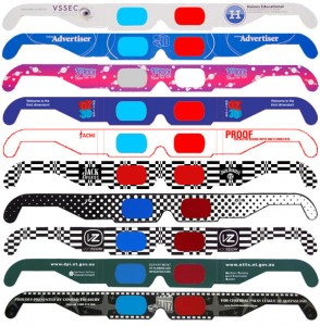 custom glasses 294x300 How to watch 3D TV in style with the foxiest frames of 2011